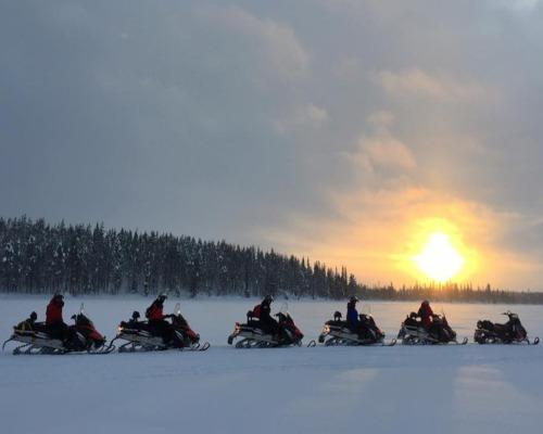 Expedición en moto de nieve por Laponia