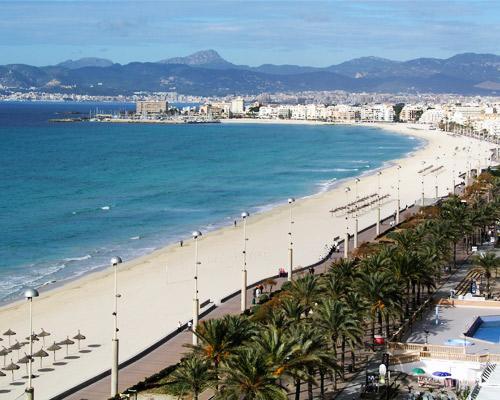 Diversión con amigos en Playa de Palma